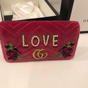 NWT Gucci marmount LOVE  velvet bag 100%authentic